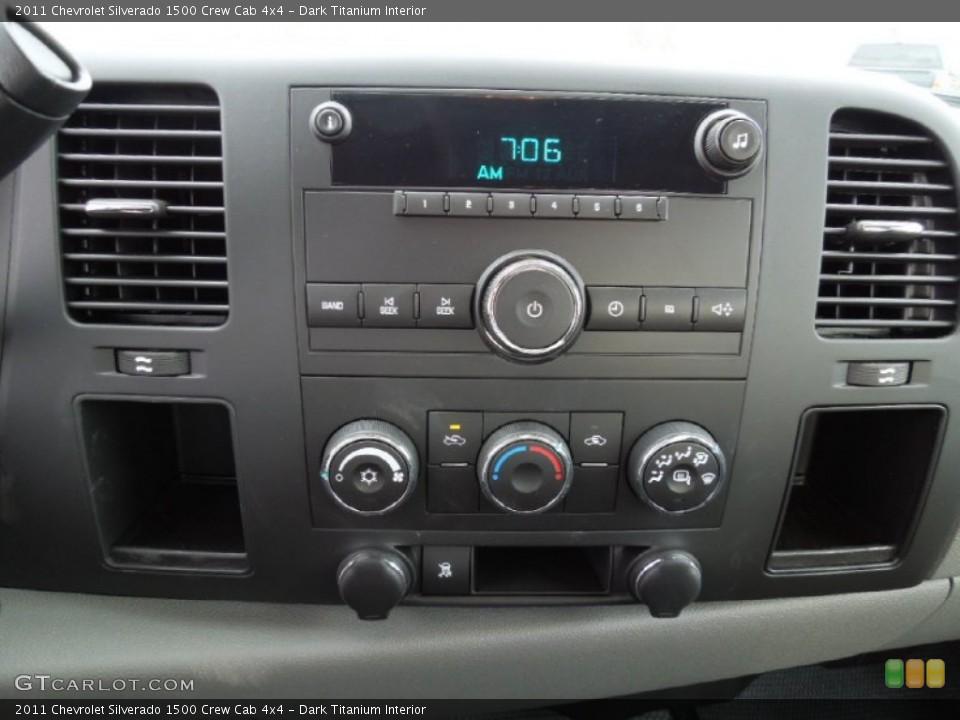 Dark Titanium Interior Controls for the 2011 Chevrolet Silverado 1500 Crew Cab 4x4 #60963888