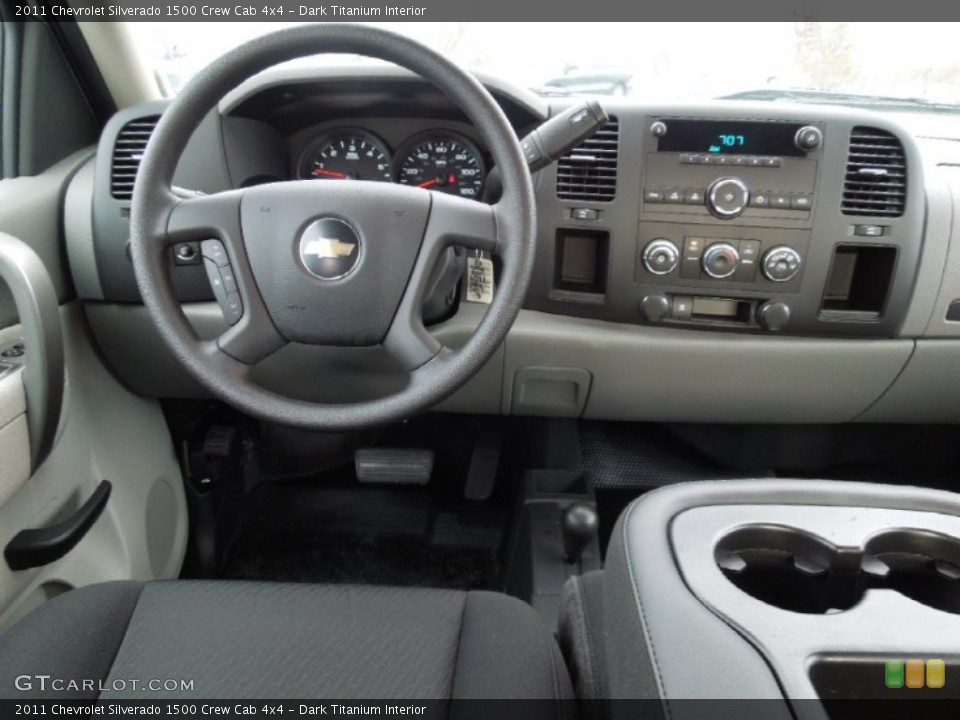 Dark Titanium Interior Dashboard for the 2011 Chevrolet Silverado 1500 Crew Cab 4x4 #60963912