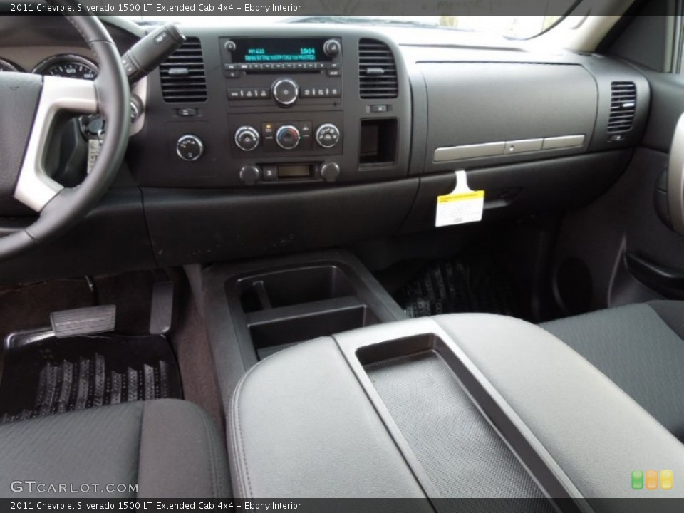 Ebony Interior Dashboard for the 2011 Chevrolet Silverado 1500 LT Extended Cab 4x4 #60964208