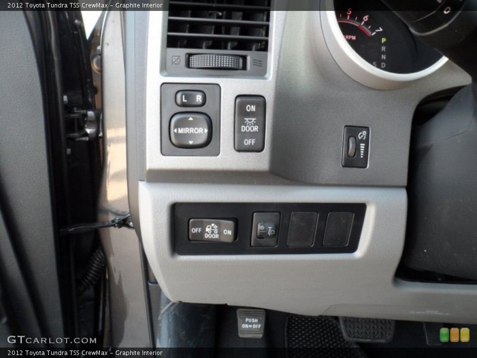 Graphite Interior Controls for the 2012 Toyota Tundra TSS CrewMax #61017346