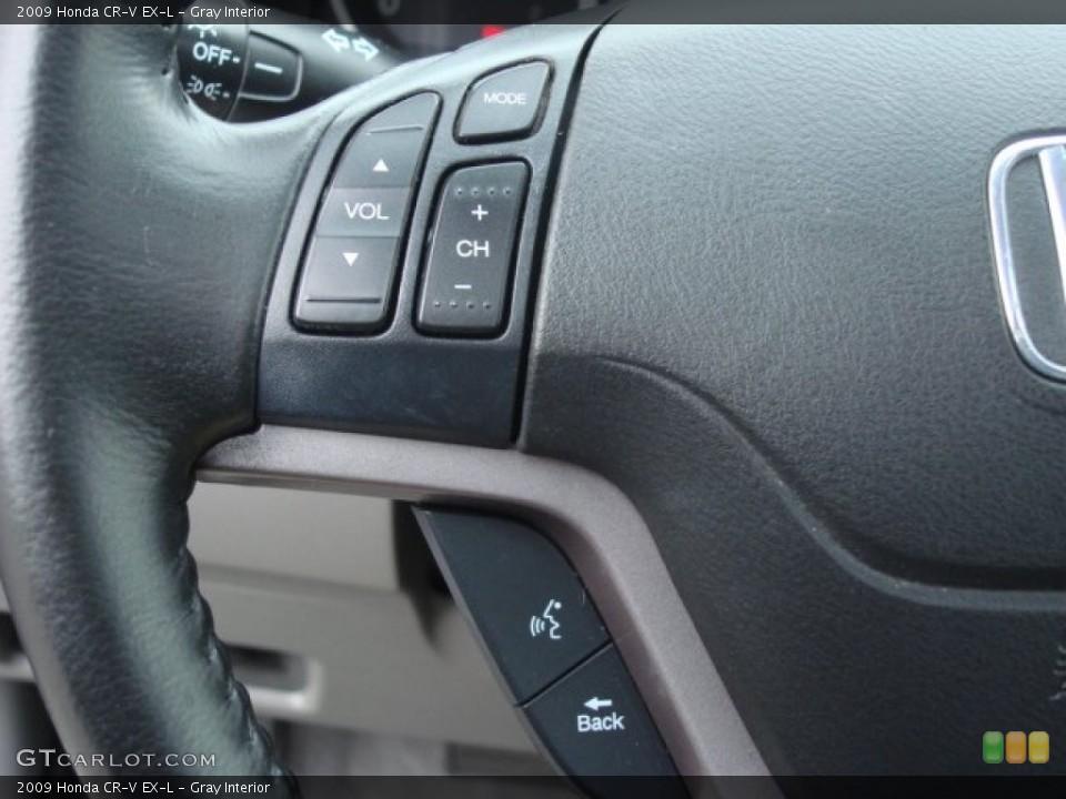 Gray Interior Controls for the 2009 Honda CR-V EX-L #61120051