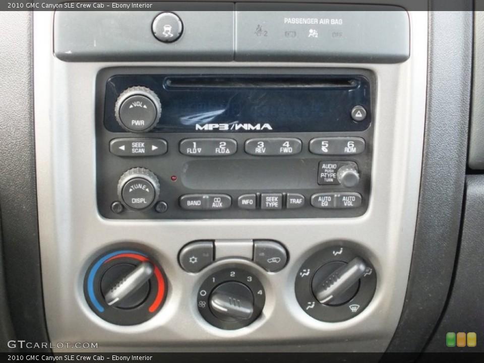Ebony Interior Controls for the 2010 GMC Canyon SLE Crew Cab #61133402