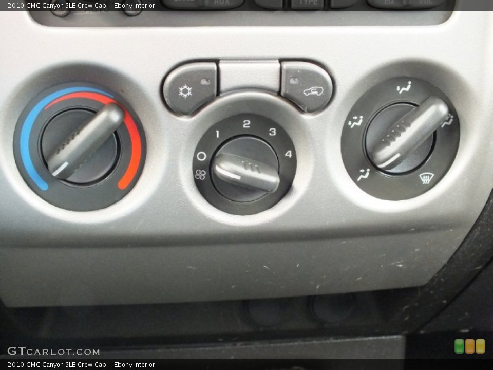 Ebony Interior Controls for the 2010 GMC Canyon SLE Crew Cab #61133423