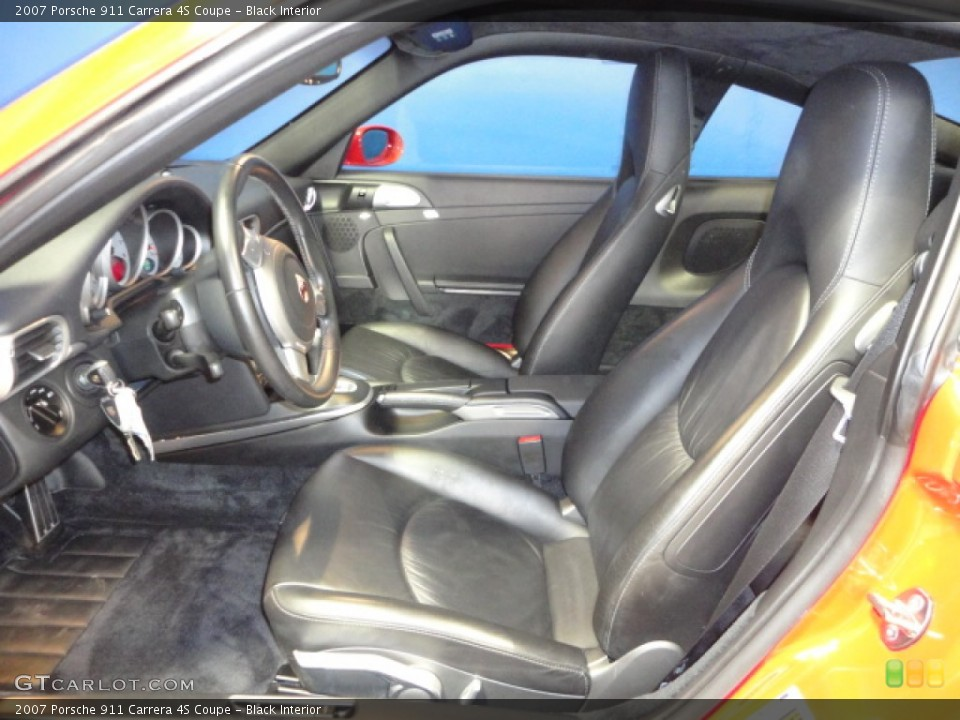 Black Interior Photo for the 2007 Porsche 911 Carrera 4S Coupe #61145171