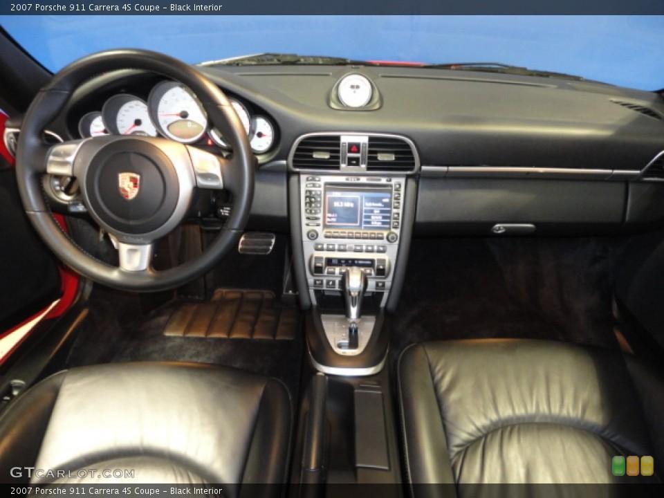 Black Interior Dashboard for the 2007 Porsche 911 Carrera 4S Coupe #61145179
