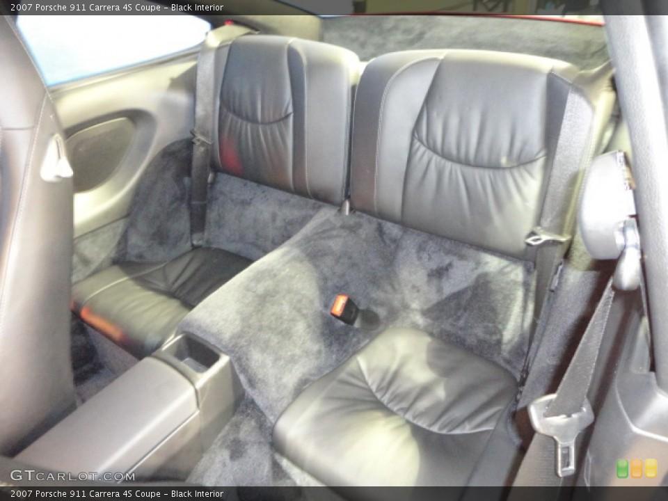 Black Interior Rear Seat for the 2007 Porsche 911 Carrera 4S Coupe #61145222