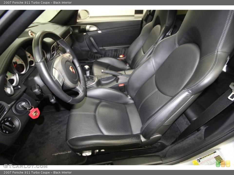Black Interior Photo for the 2007 Porsche 911 Turbo Coupe #61461697