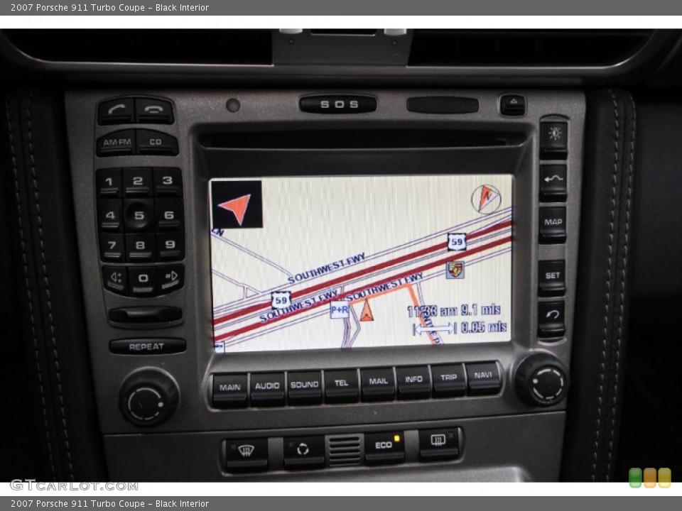 Black Interior Navigation for the 2007 Porsche 911 Turbo Coupe #61461907