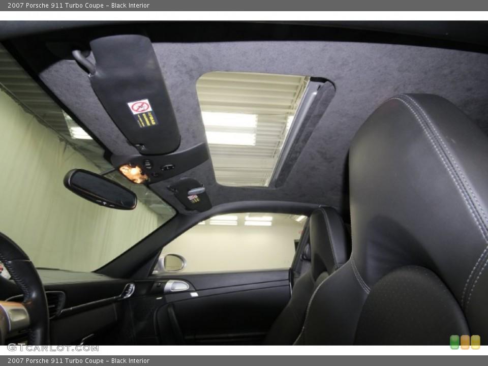 Black Interior Sunroof for the 2007 Porsche 911 Turbo Coupe #61461946