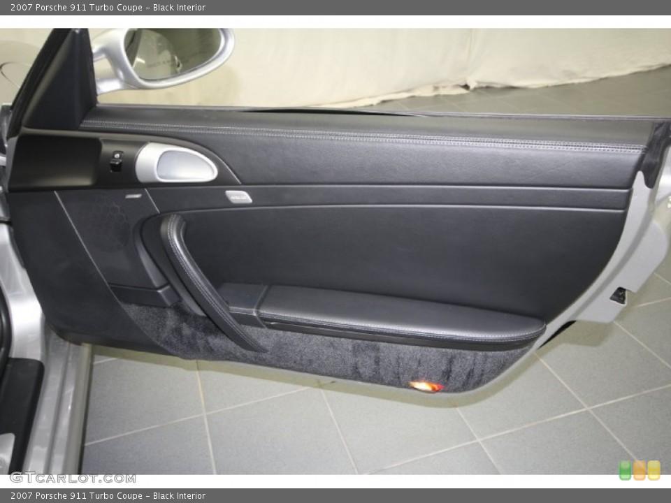 Black Interior Door Panel for the 2007 Porsche 911 Turbo Coupe #61461992