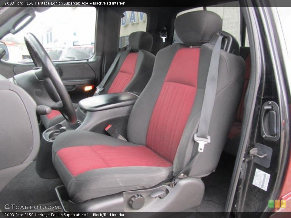 Stupendous Black Red Interior Front Seat For The 2003 Ford F150 Pabps2019 Chair Design Images Pabps2019Com