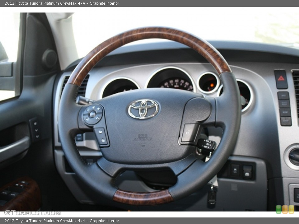 Graphite Interior Steering Wheel for the 2012 Toyota Tundra Platinum CrewMax 4x4 #61523887