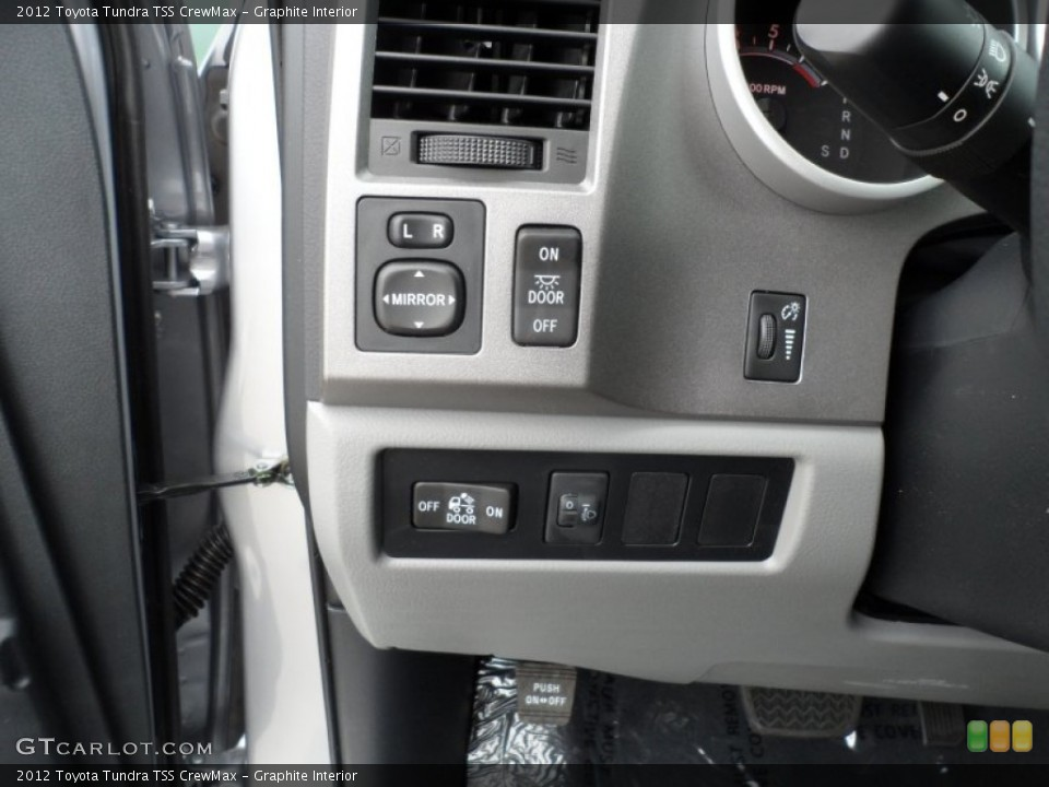 Graphite Interior Controls for the 2012 Toyota Tundra TSS CrewMax #61751010