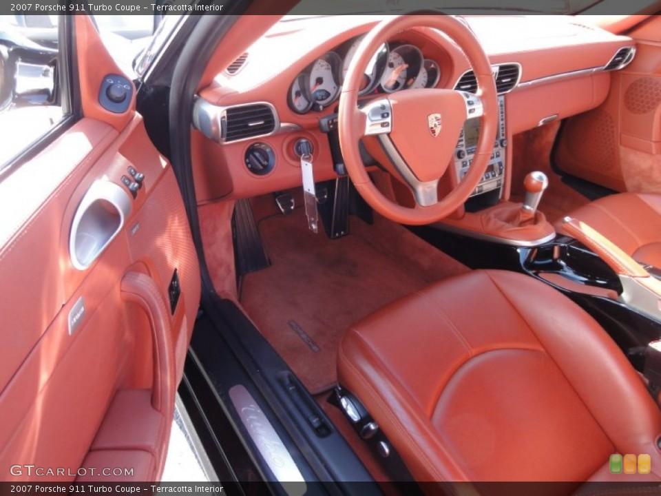 Terracotta Interior Photo for the 2007 Porsche 911 Turbo Coupe #61953722