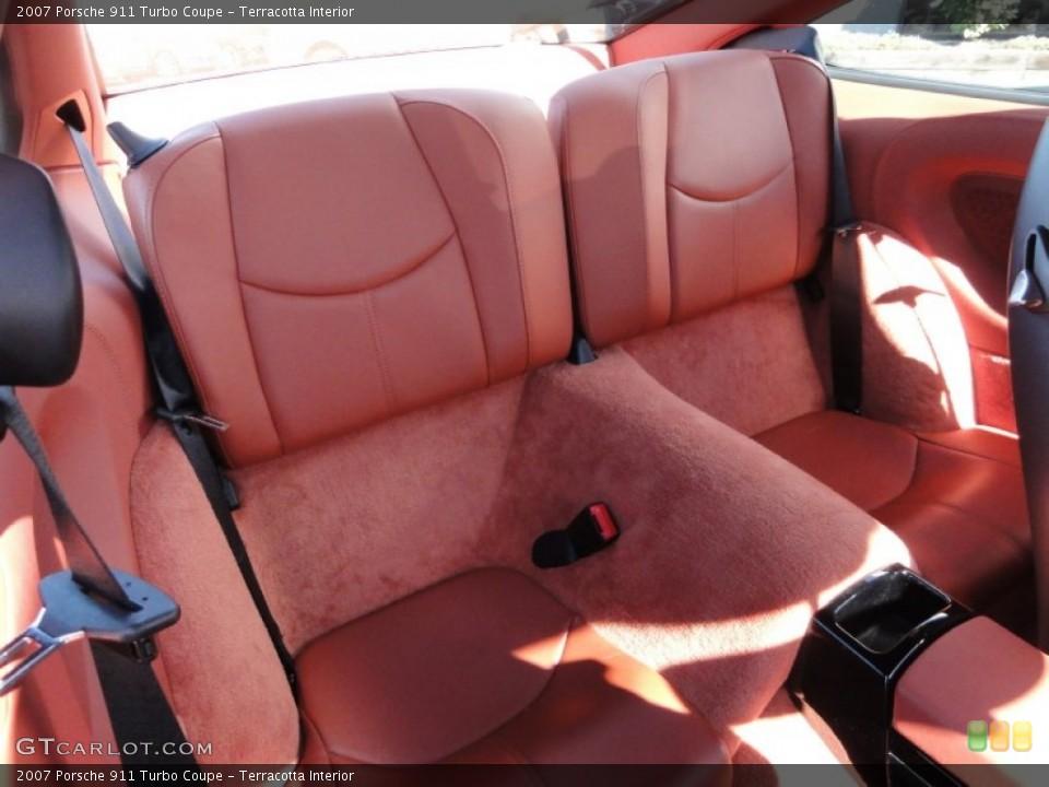 Terracotta Interior Rear Seat for the 2007 Porsche 911 Turbo Coupe #61953788