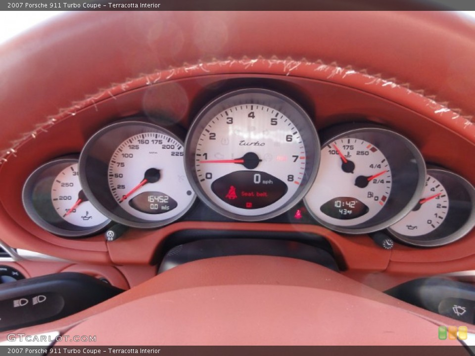 Terracotta Interior Gauges for the 2007 Porsche 911 Turbo Coupe #61953941