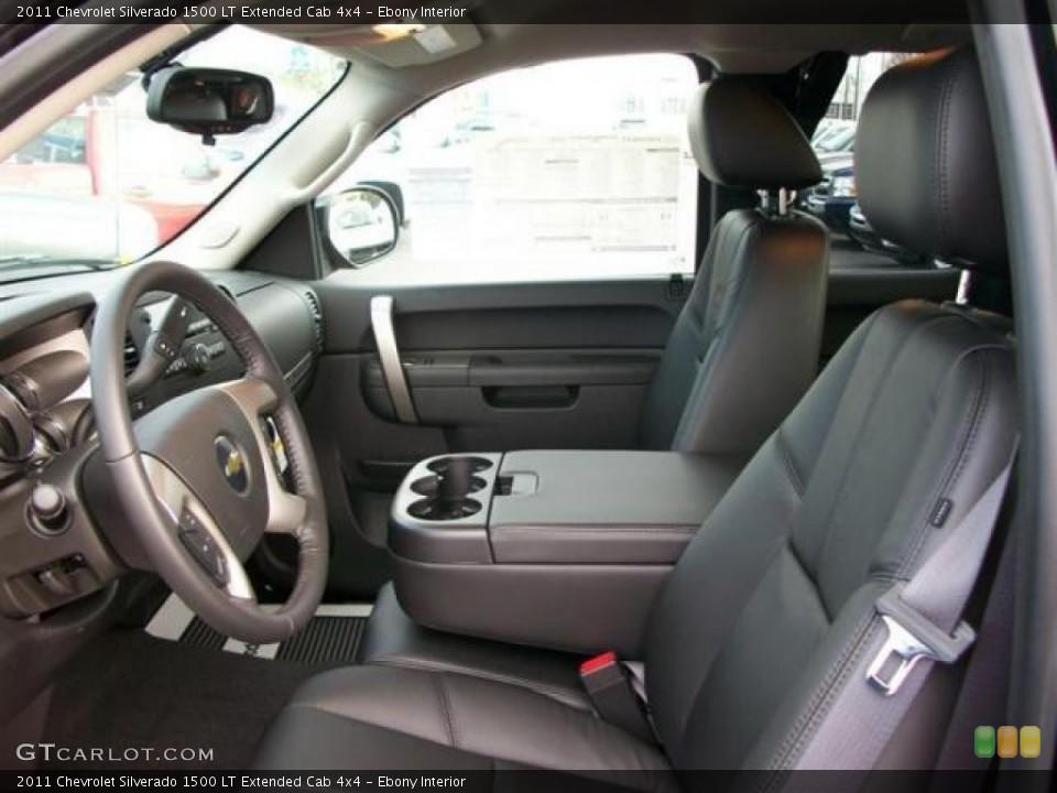 Ebony Interior Photo for the 2011 Chevrolet Silverado 1500 LT Extended Cab 4x4 #62109308