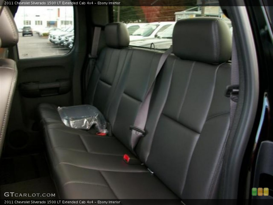 Ebony Interior Rear Seat for the 2011 Chevrolet Silverado 1500 LT Extended Cab 4x4 #62109317
