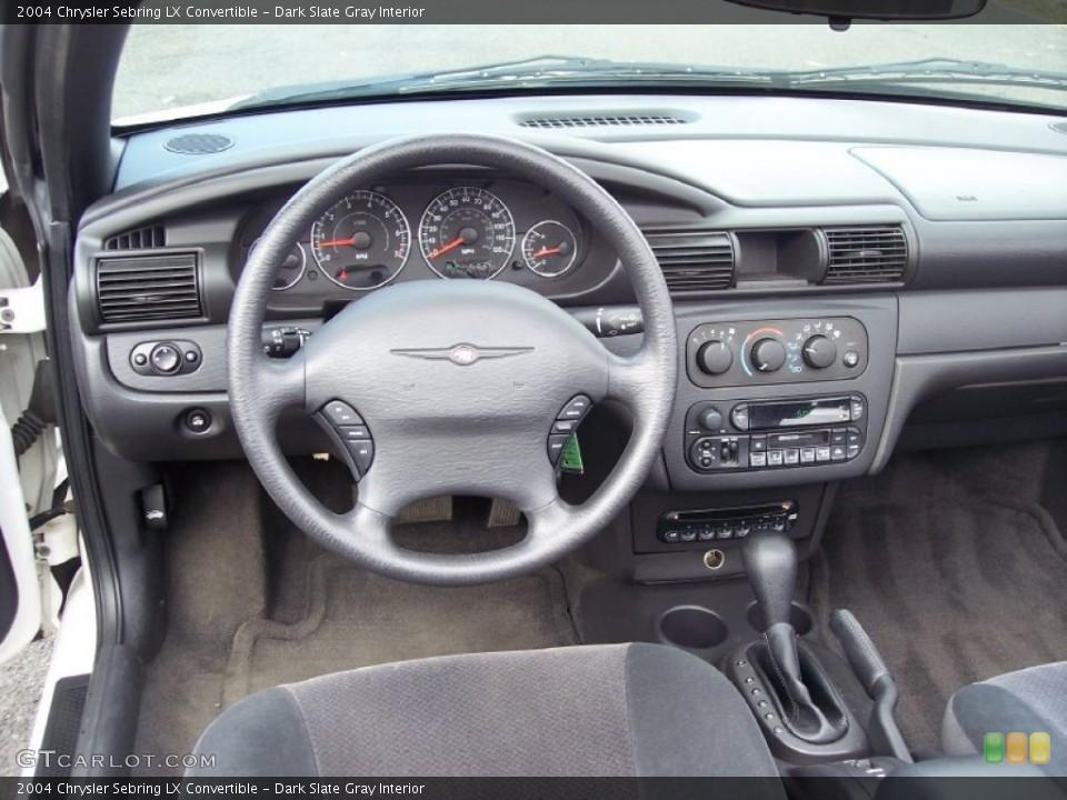 Dark Slate Gray Interior Dashboard For The 2004 Chrysler Sebring Lx Convertible 62234207