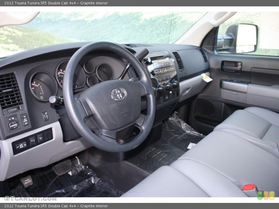 Graphite Interior Photo for the 2012 Toyota Tundra SR5 Double Cab 4x4 #62422465