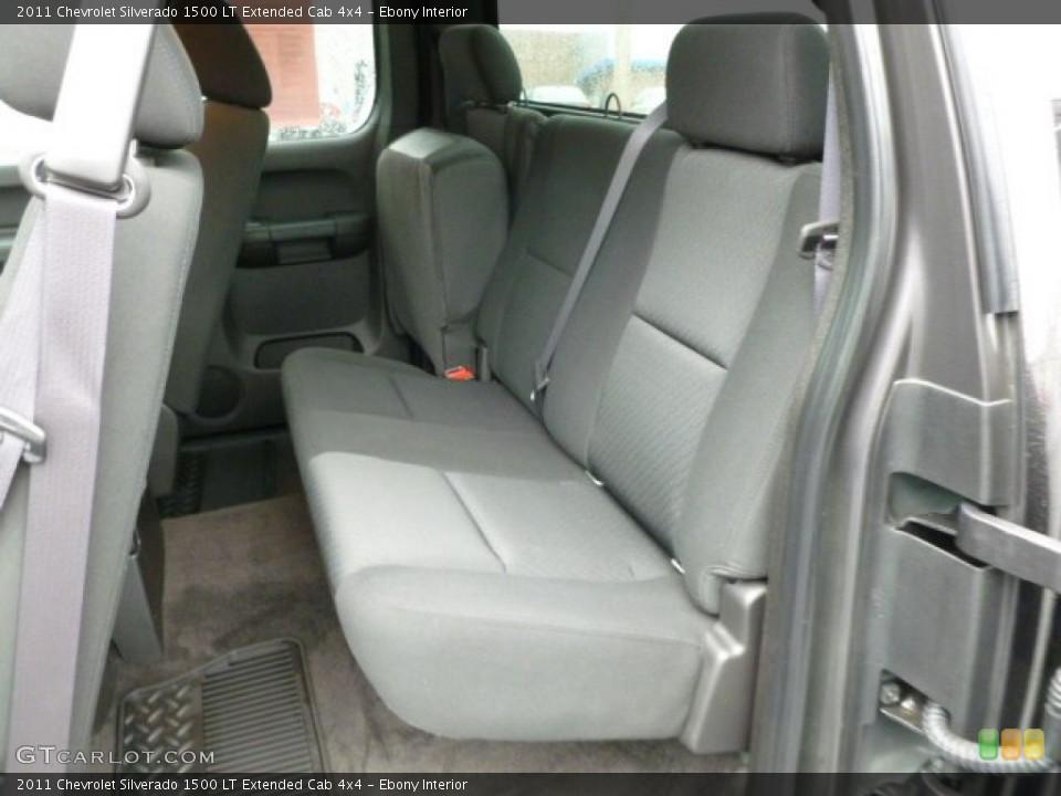 Ebony Interior Rear Seat for the 2011 Chevrolet Silverado 1500 LT Extended Cab 4x4 #62443105