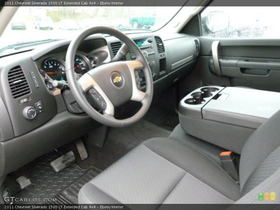 Ebony Interior Prime Interior for the 2011 Chevrolet Silverado 1500 LT Extended Cab 4x4 #62443132