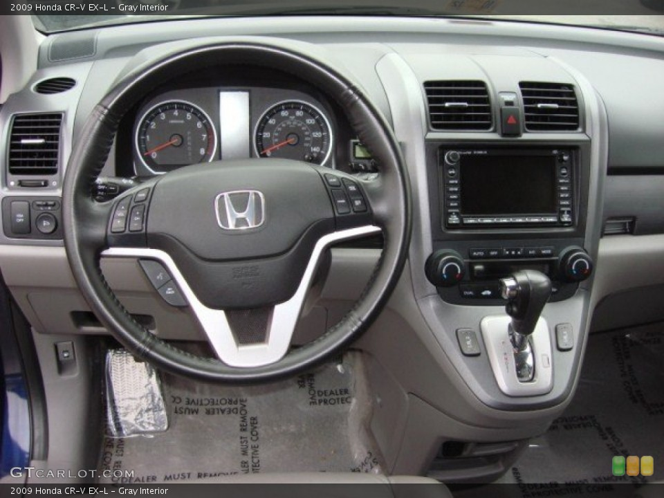 Gray Interior Dashboard for the 2009 Honda CR-V EX-L #62553193