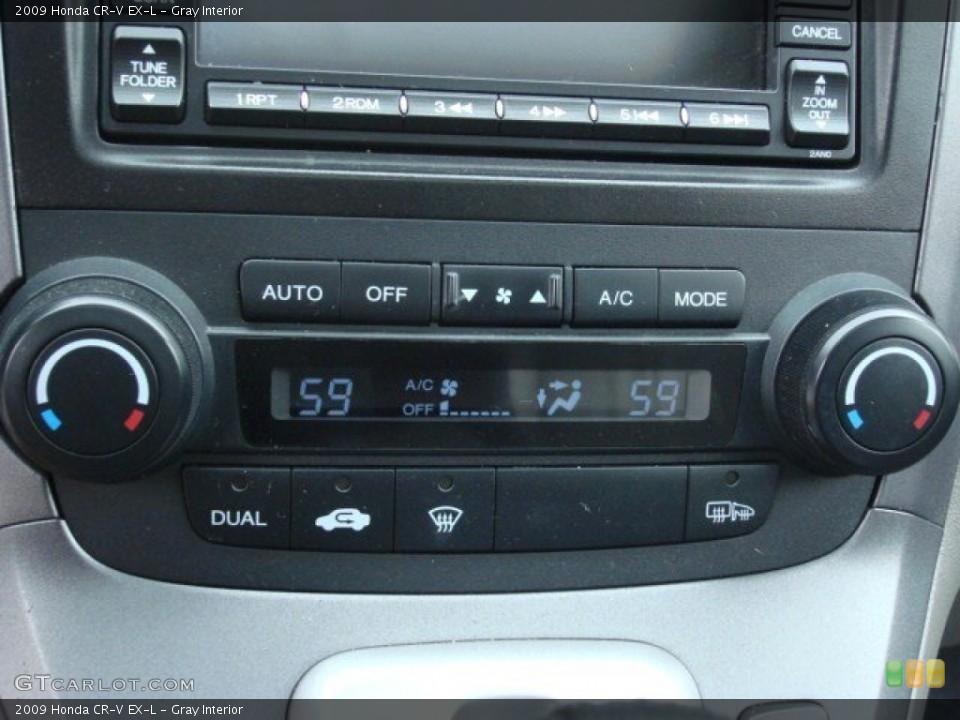 Gray Interior Controls for the 2009 Honda CR-V EX-L #62553265