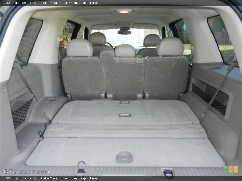 Medium Parchment Beige Interior Trunk for the 2003 Ford Explorer XLT 4x4 #62569330