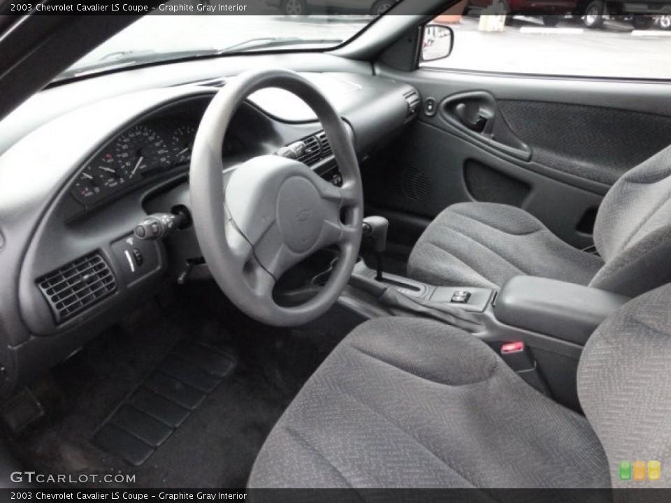 Graphite Gray Interior Prime Interior for the 2003 Chevrolet Cavalier LS Coupe #62582434