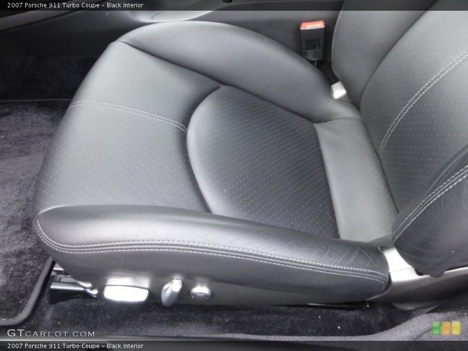 Black Interior Front Seat for the 2007 Porsche 911 Turbo Coupe #62642183