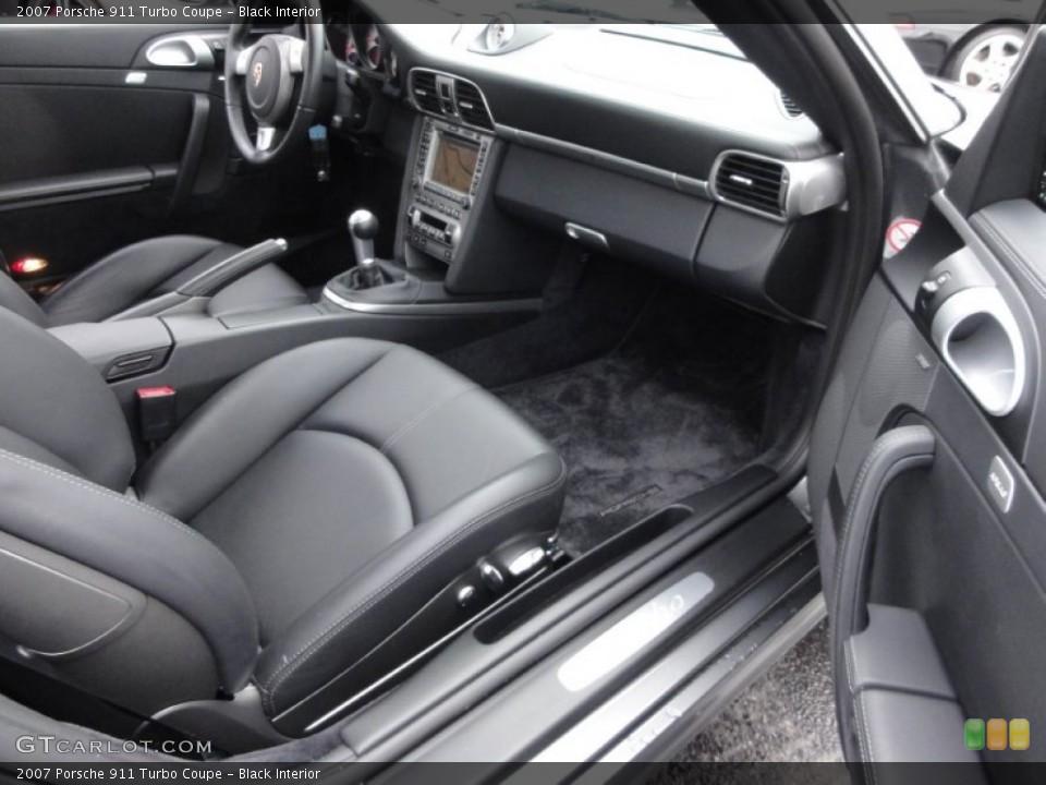 Black Interior Photo for the 2007 Porsche 911 Turbo Coupe #62642198