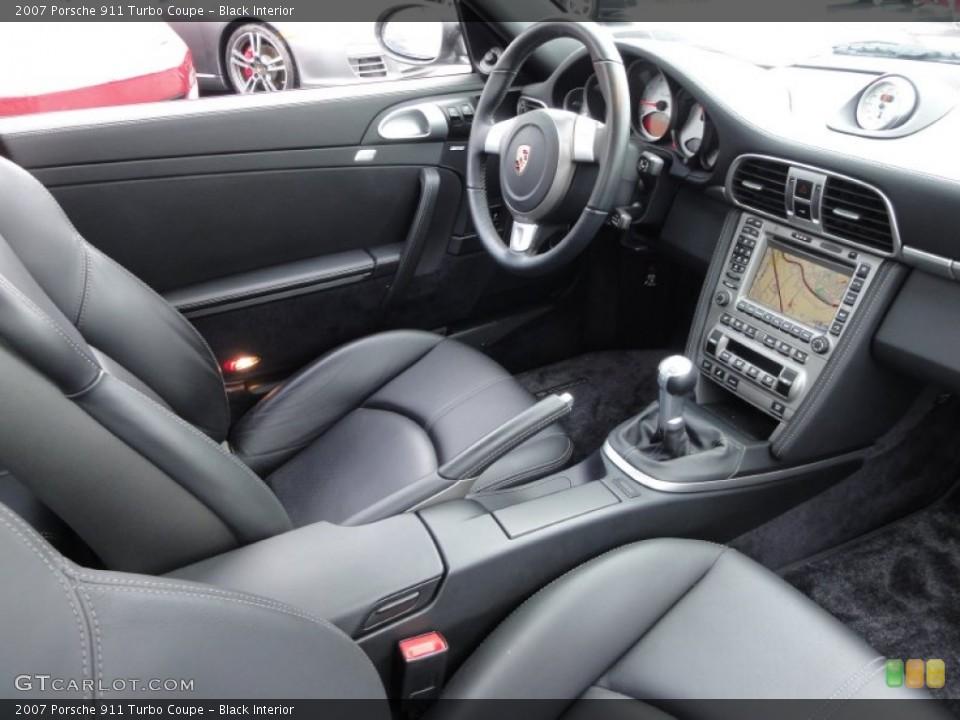 Black Interior Photo for the 2007 Porsche 911 Turbo Coupe #62642204
