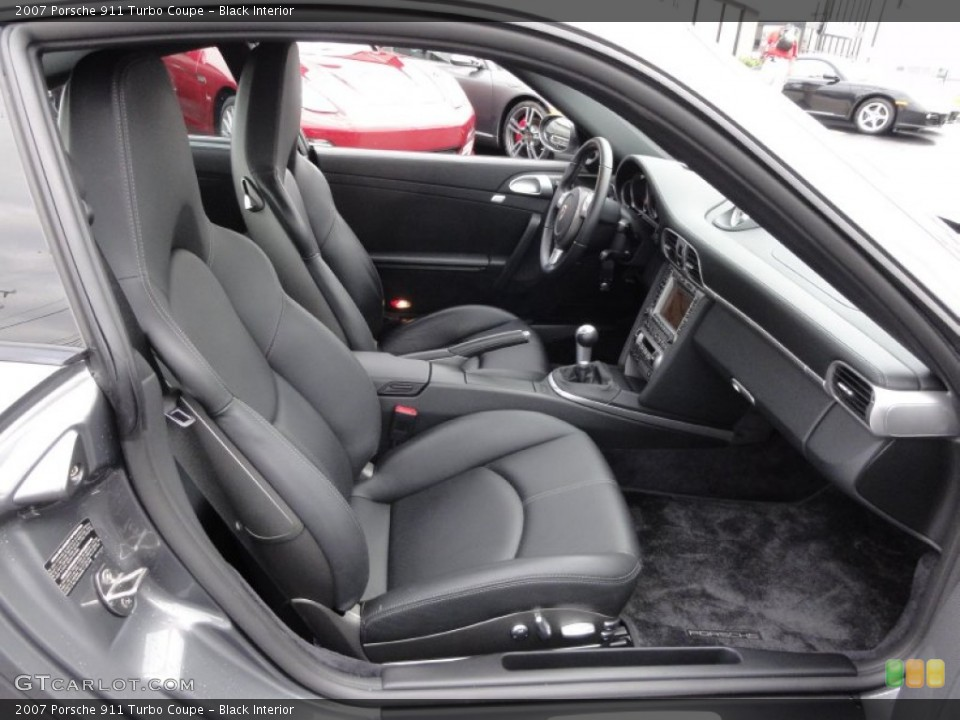 Black Interior Photo for the 2007 Porsche 911 Turbo Coupe #62642213