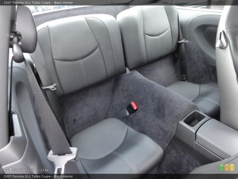 Black Interior Rear Seat for the 2007 Porsche 911 Turbo Coupe #62642231