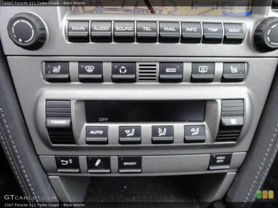 Black Interior Controls for the 2007 Porsche 911 Turbo Coupe #62642369