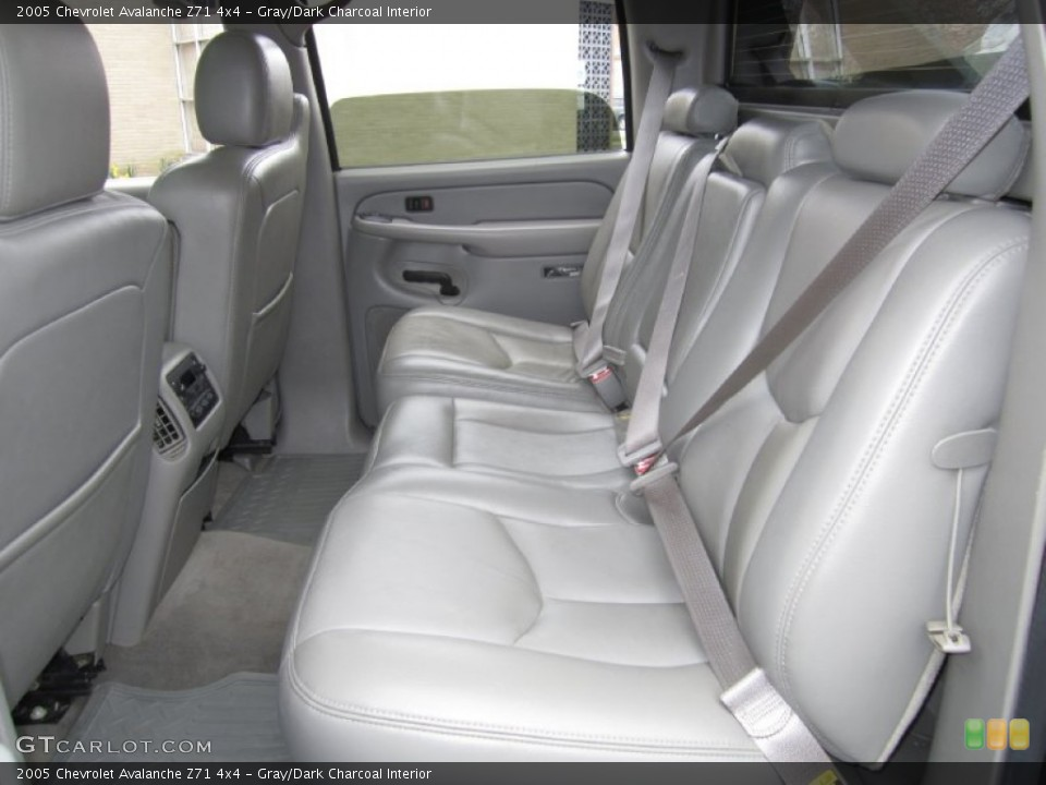 Gray Dark Charcoal Interior Rear Seat For The 2005 Chevrolet