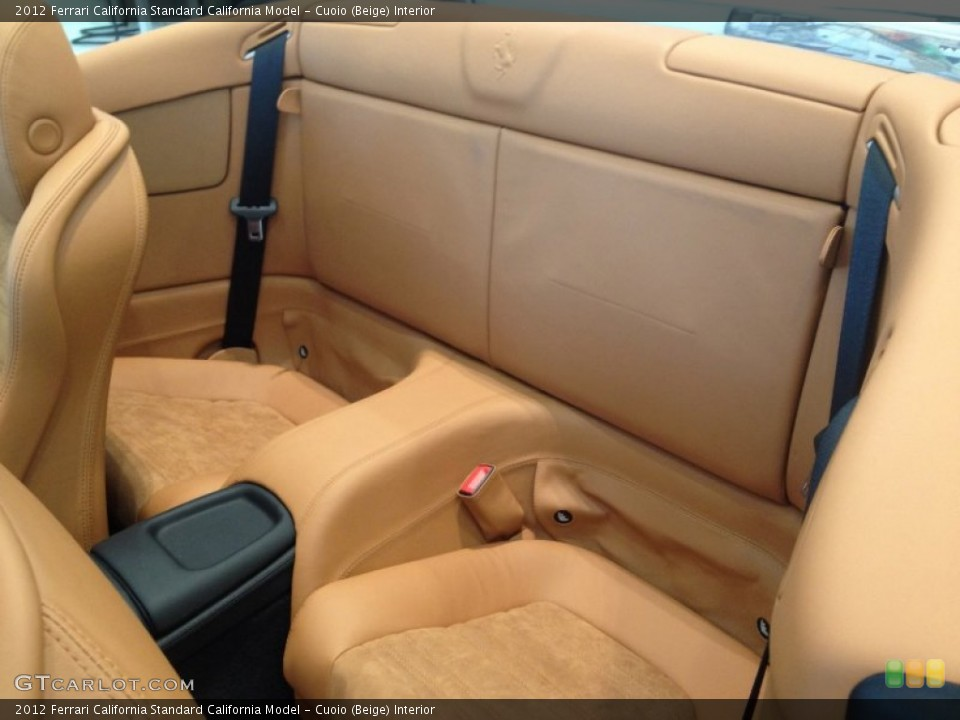 Cuoio (Beige) Interior Rear Seat for the 2012 Ferrari