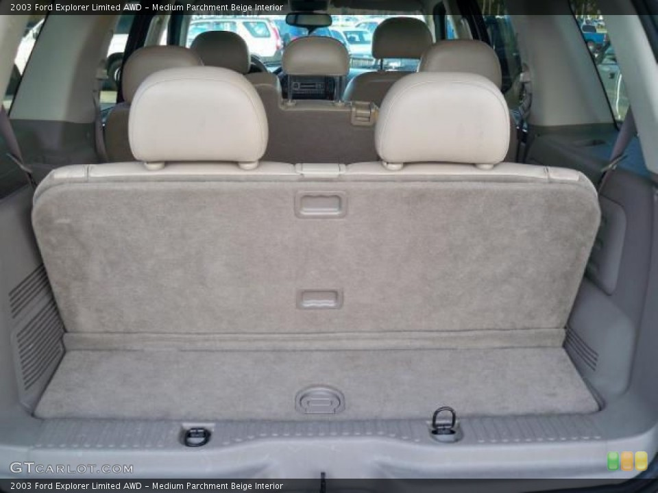 Medium Parchment Beige Interior Trunk for the 2003 Ford Explorer Limited AWD #63048883