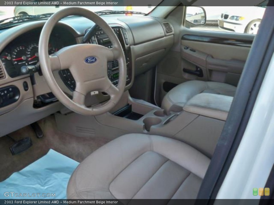 Medium Parchment Beige Interior Photo for the 2003 Ford Explorer Limited AWD #63049009