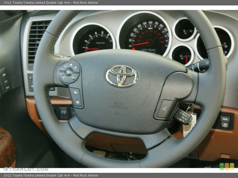 Red Rock Interior Steering Wheel for the 2012 Toyota Tundra Limited Double Cab 4x4 #63148278