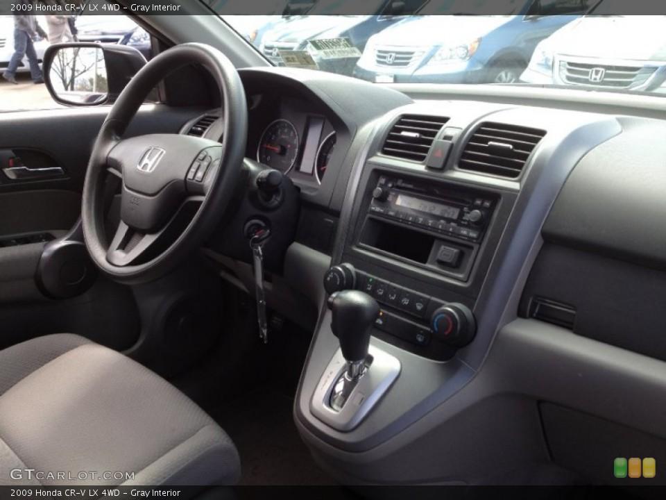 Gray Interior Dashboard for the 2009 Honda CR-V LX 4WD #63220315