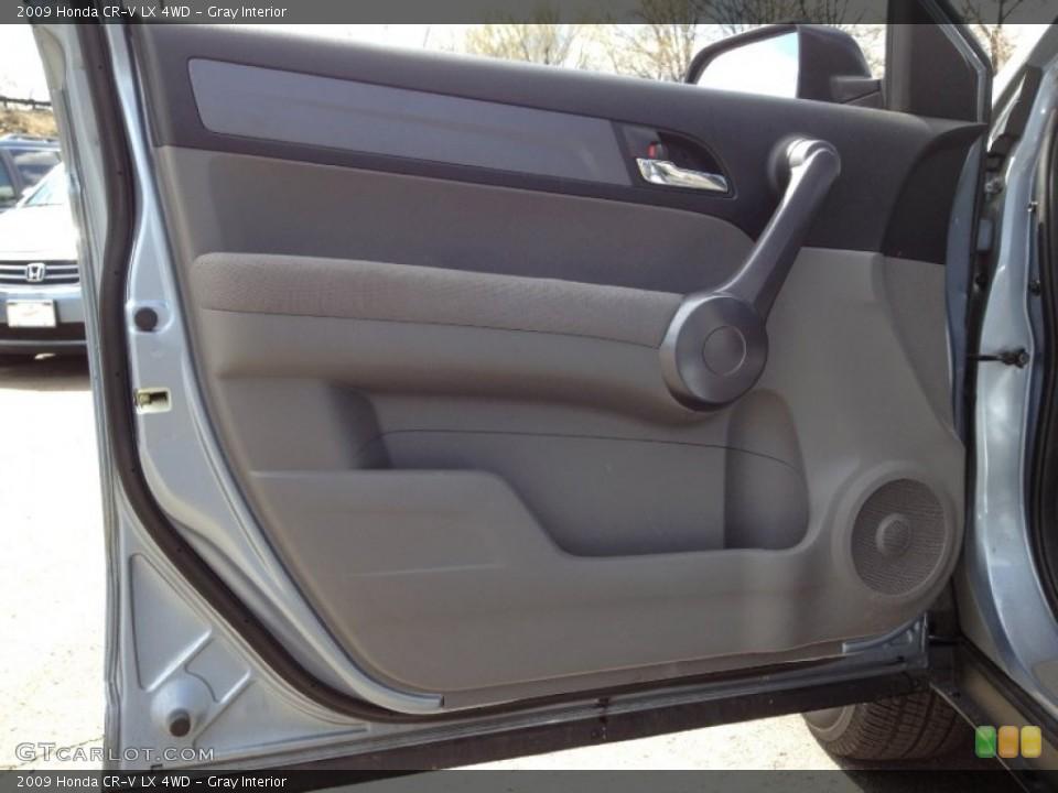 Gray Interior Door Panel for the 2009 Honda CR-V LX 4WD #63220344