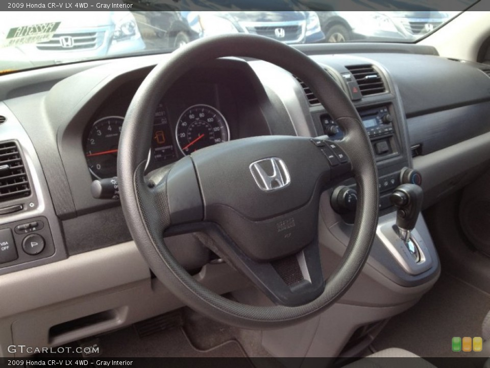 Gray Interior Steering Wheel for the 2009 Honda CR-V LX 4WD #63220365