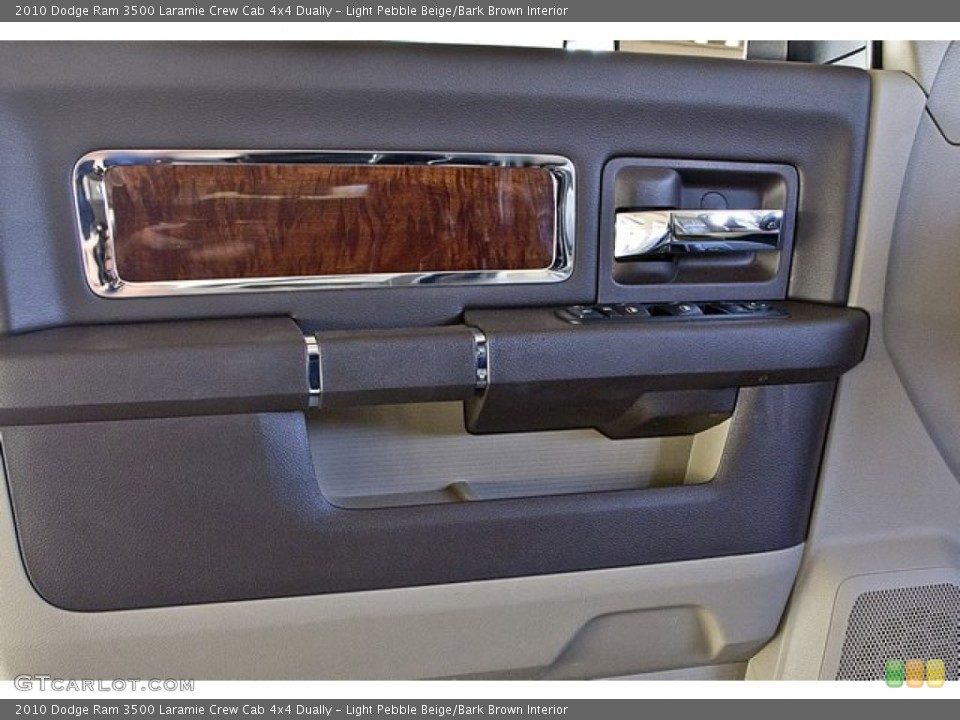 Light Pebble Beige/Bark Brown Interior Door Panel for the 2010 Dodge Ram 3500 Laramie Crew Cab 4x4 Dually #63257695