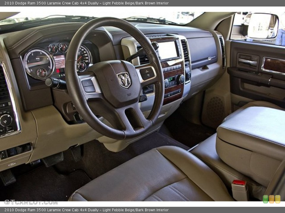 Light Pebble Beige/Bark Brown Interior Photo for the 2010 Dodge Ram 3500 Laramie Crew Cab 4x4 Dually #63257713