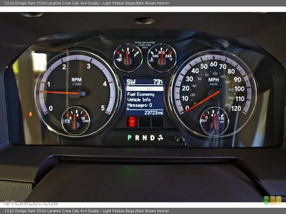 Light Pebble Beige/Bark Brown Interior Gauges for the 2010 Dodge Ram 3500 Laramie Crew Cab 4x4 Dually #63257731