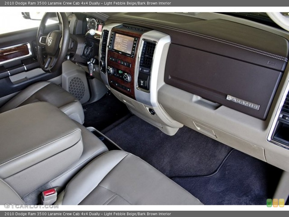 Light Pebble Beige/Bark Brown Interior Dashboard for the 2010 Dodge Ram 3500 Laramie Crew Cab 4x4 Dually #63257737