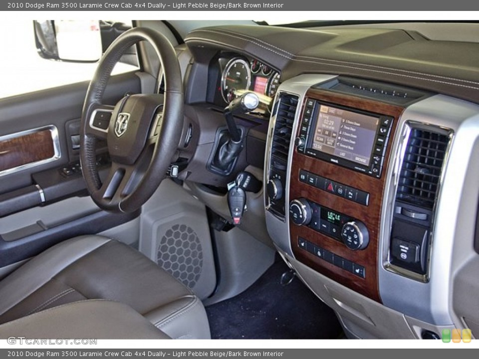 Light Pebble Beige/Bark Brown Interior Controls for the 2010 Dodge Ram 3500 Laramie Crew Cab 4x4 Dually #63257746