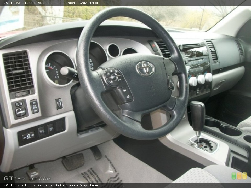 Graphite Gray Interior Dashboard for the 2011 Toyota Tundra Double Cab 4x4 #63417942